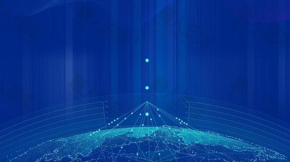蓝色科技感光效背景图