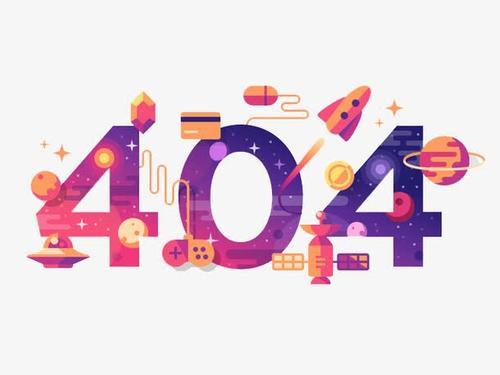 404卡通数字
