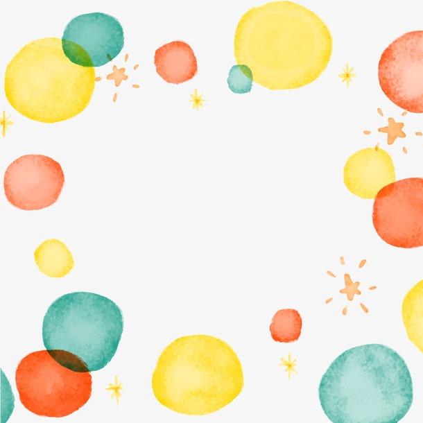 水彩气球装饰背景