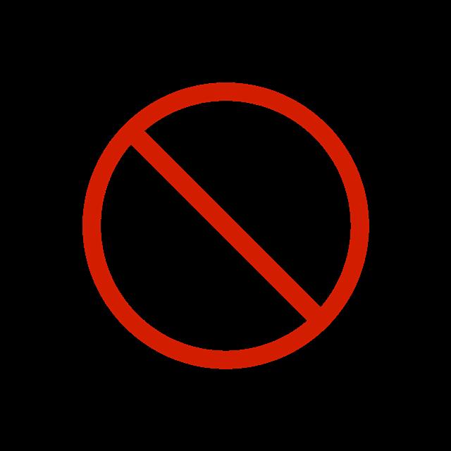 红色矢量禁止图标