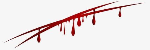 流血刀痕图片