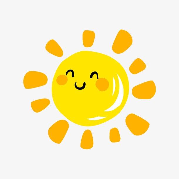 微笑小太阳卡通元素