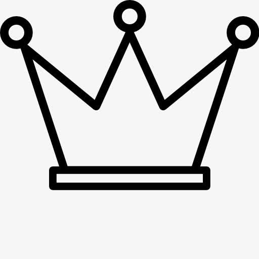 皇冠简笔画素材