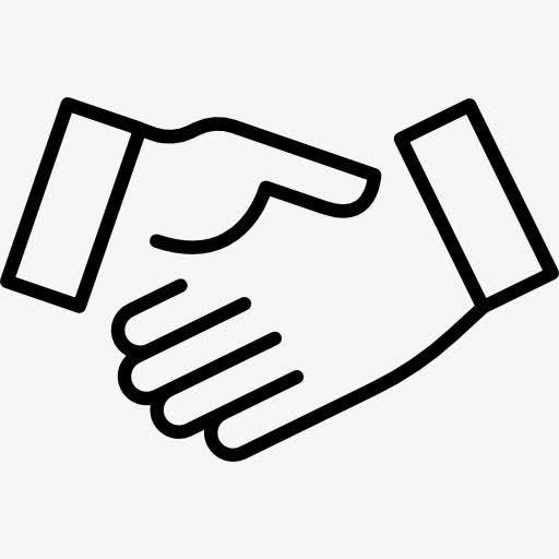 握手合作矢量图标元素