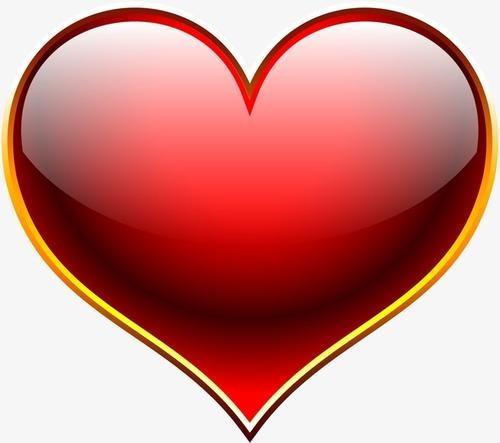 红色爱心装饰图片