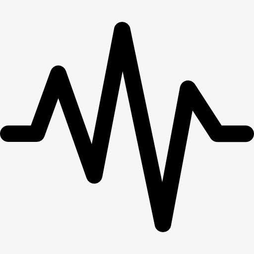矢量线性声波图标