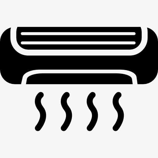 黑色矢量空调图标