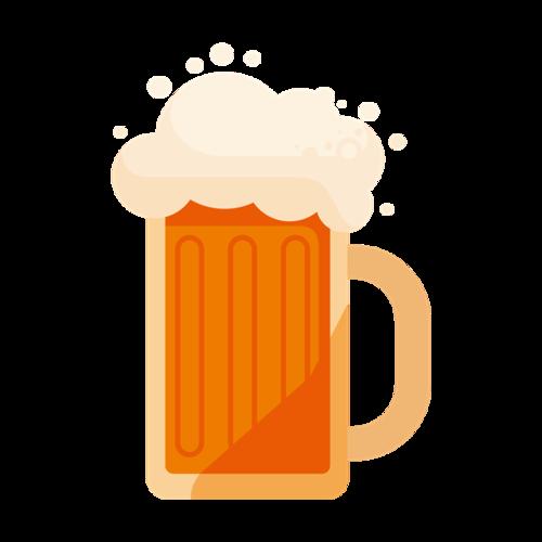 手绘矢量啤酒插画