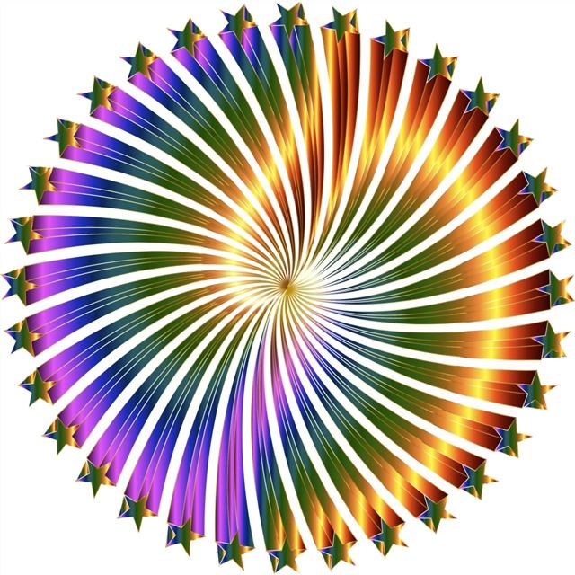 彩色旋涡效果元素