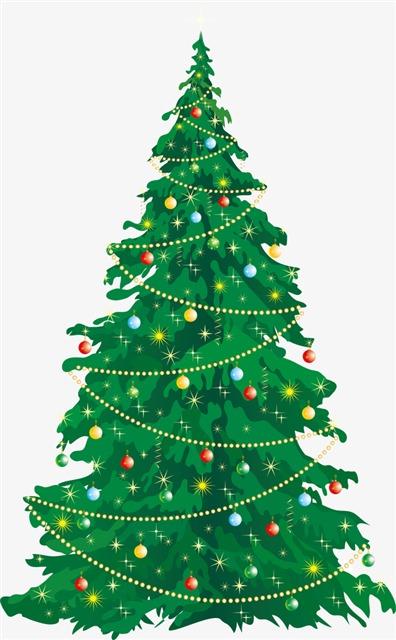 绿色圣诞树免抠png