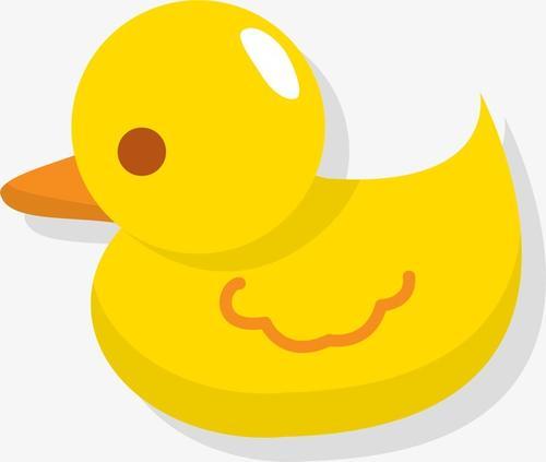 卡通矢量小黄鸭