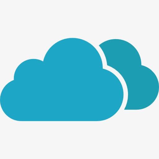 云数据蓝色网络图标
