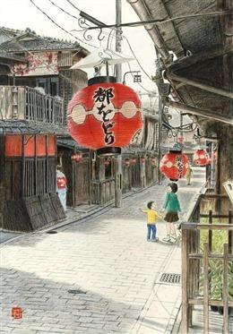 日本街头动漫场景图