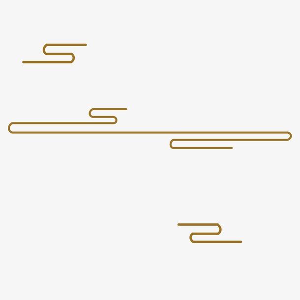 金色线性祥云图案