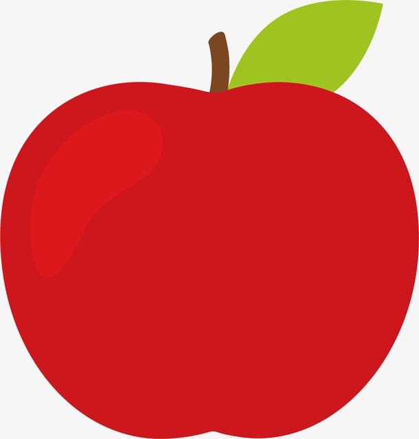 手绘红色苹果图片