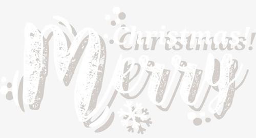 圣诞节快乐透明贴纸