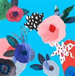 文艺风手绘花卉背景