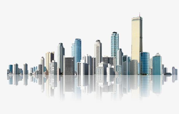 繁华城市建筑插画图