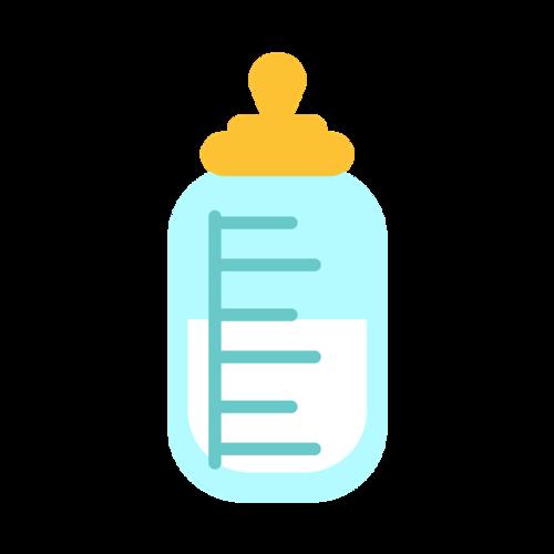 扁平卡通婴儿小奶瓶