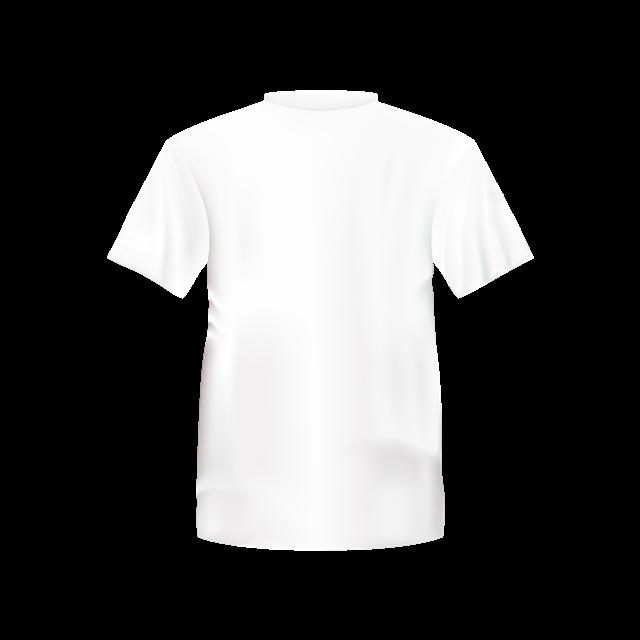 白底T恤背面免抠图