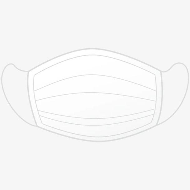 白口罩手绘元素