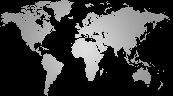 灰色世界地图ppt背景元素