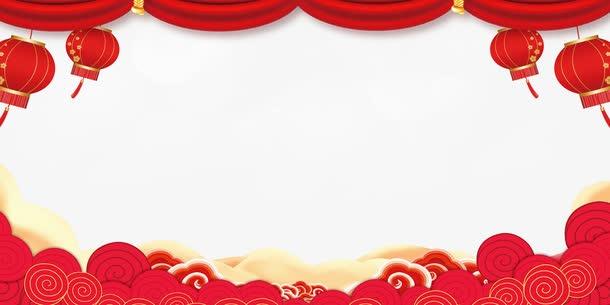 红色2021新年晚会背景