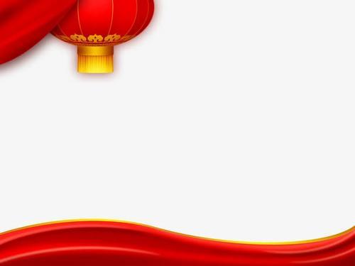 春节红色海报背景