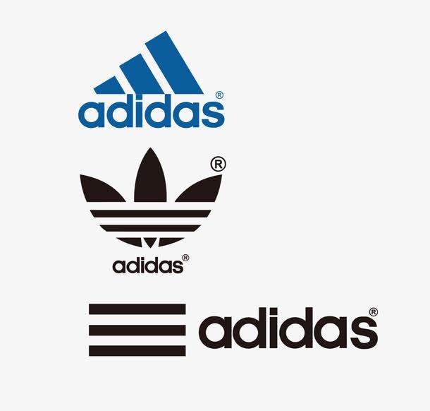 三种阿迪达斯品牌logo