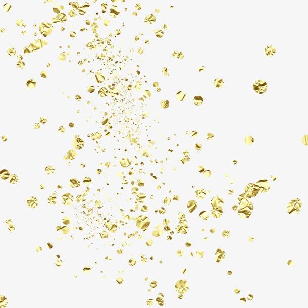 飘飞的金色颗粒底纹