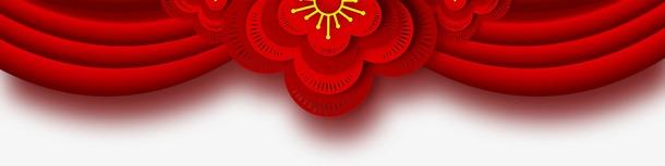 元旦新年大红色门帘