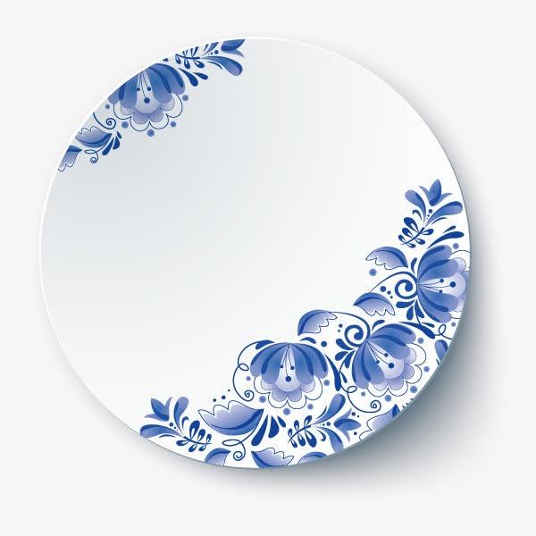 一个青花瓷盘子