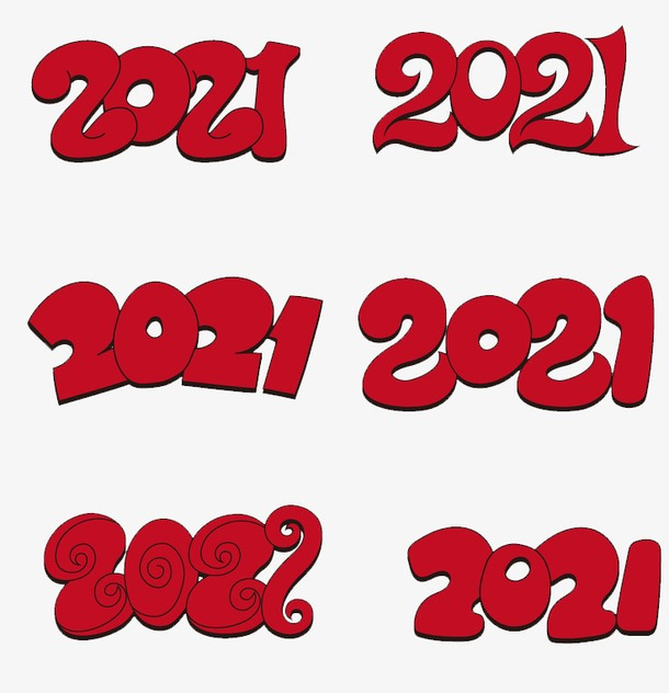 红色2021年艺术数字图片