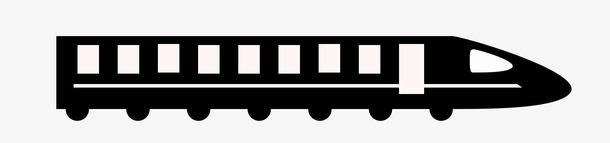 火车高铁线性图标