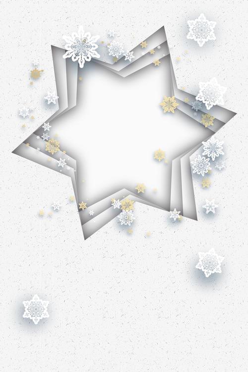雪花五角星背景图