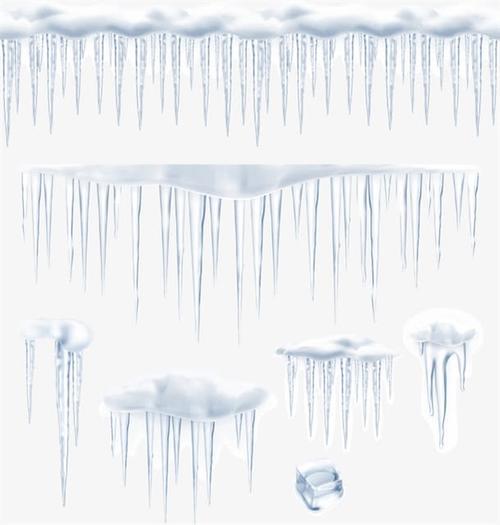 冰锥冰雪矢量图