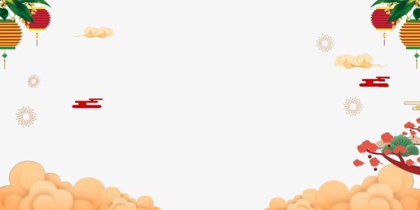 国潮新年装饰边框