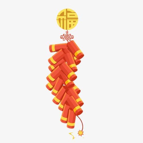 红色鞭炮新年挂饰