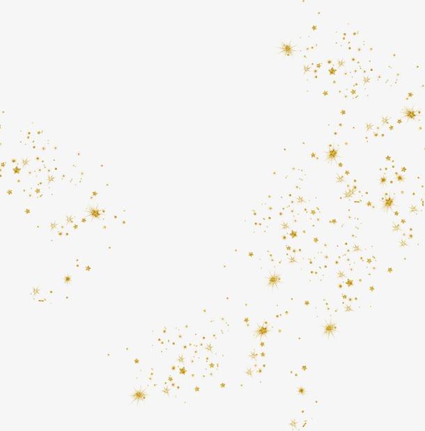 漂浮金粉png元素