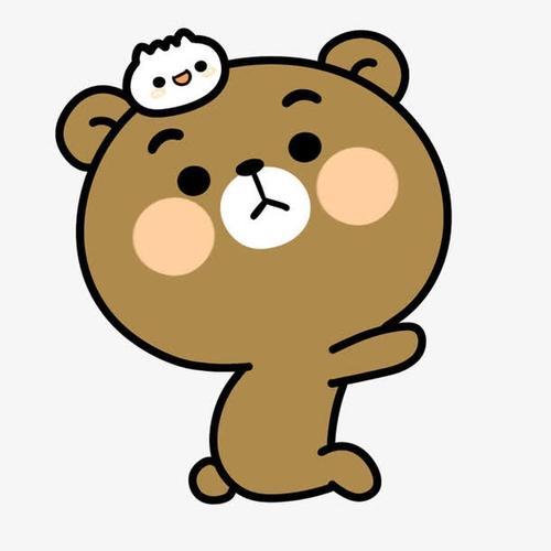 卡通可爱布朗熊