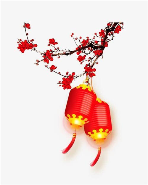 中国风灯笼梅花