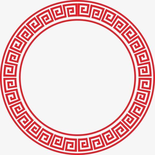 古典圆形边框