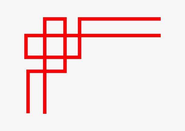 中国风简单线条边框