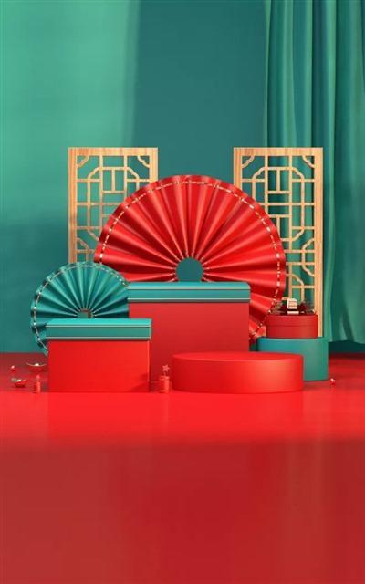 新年春节淘宝海报背景