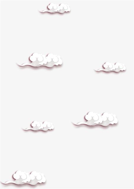漂浮的白色云朵彩云