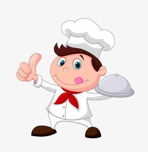 可爱厨师卡通人物