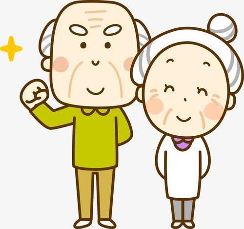 老年夫妇卡通人物