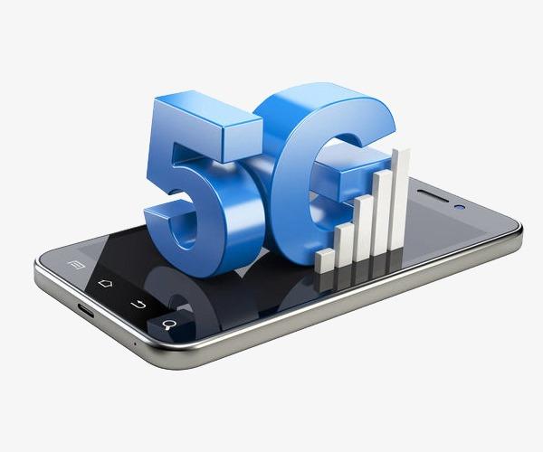移动5G技术立体插画