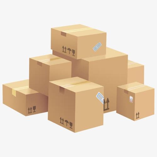 一堆物流快递箱子
