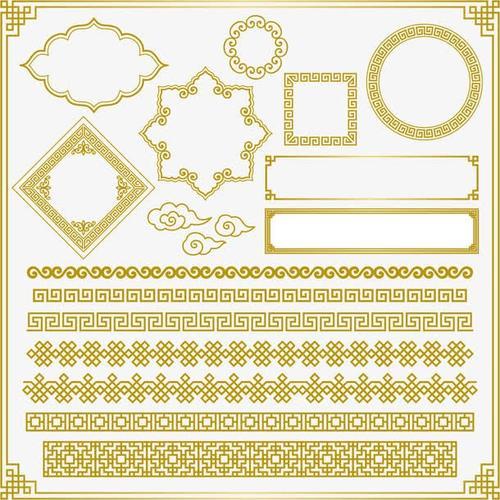 金色欧式花边花纹边框